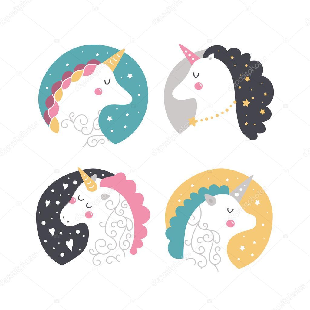 Vector baby unicorn