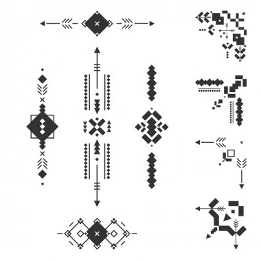 Set of vector Tribal elements