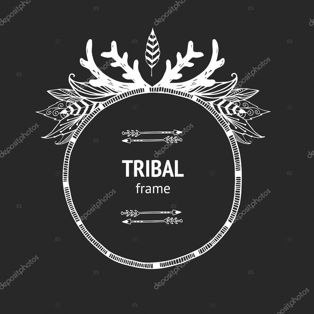 Vector tribal frame