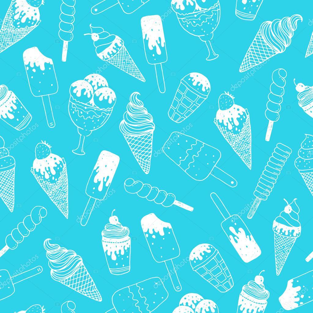 Fondo de helados vector