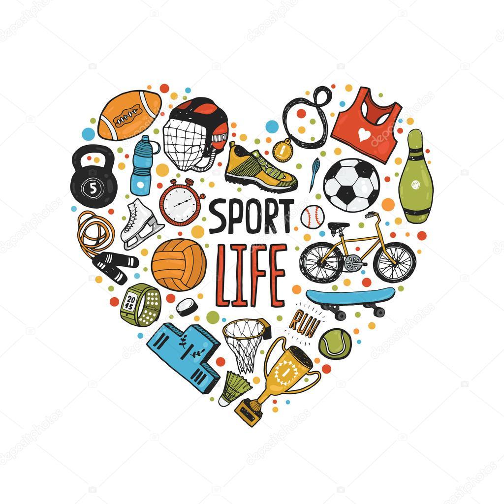 картинки спорт рисунки