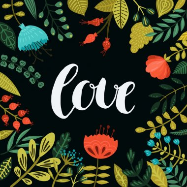 Inspirational vector love card