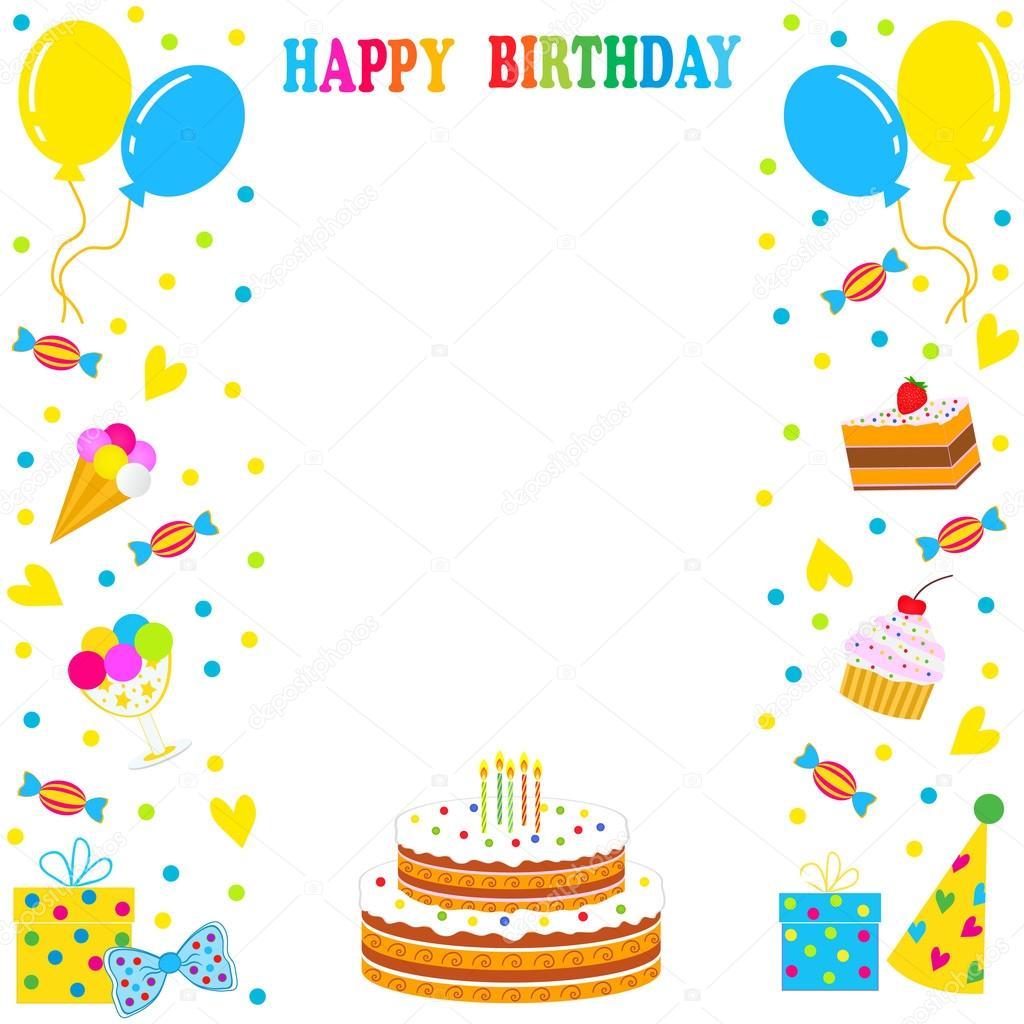 Verjaardag Frame Borde Stockvector C Iris828 65470945