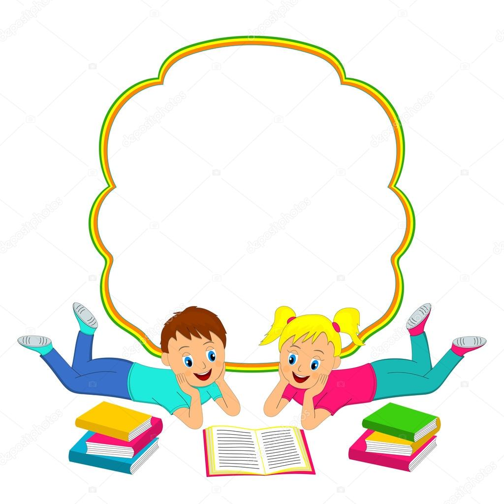frame with children  boy and girl reading a book stock clip art open book page clip art open book with gold edges
