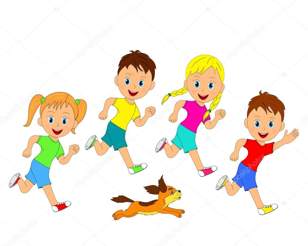 Los Niños, Niña Y Perro