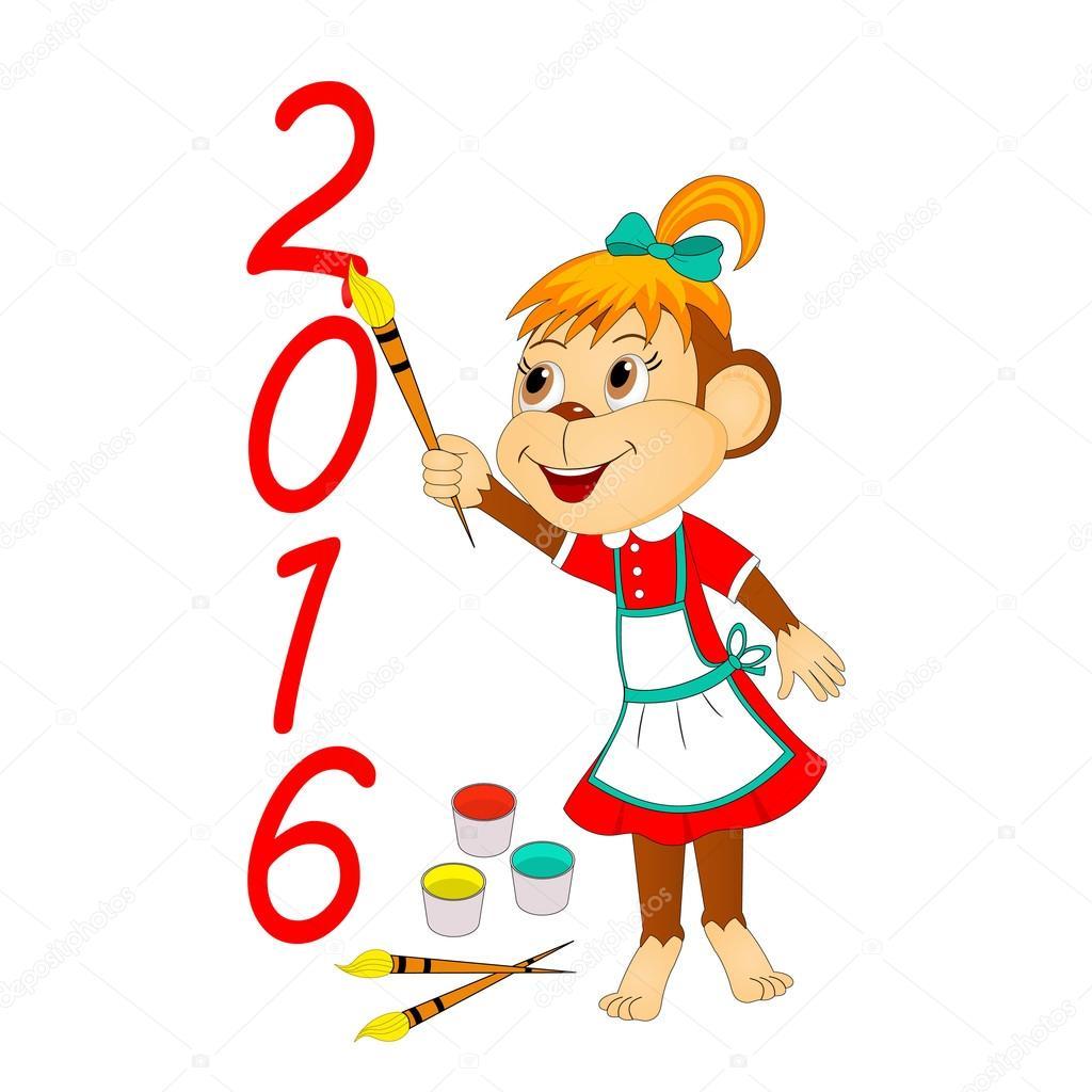 mono es dibujar figuras de año nuevo — Archivo Imágenes Vectoriales ...