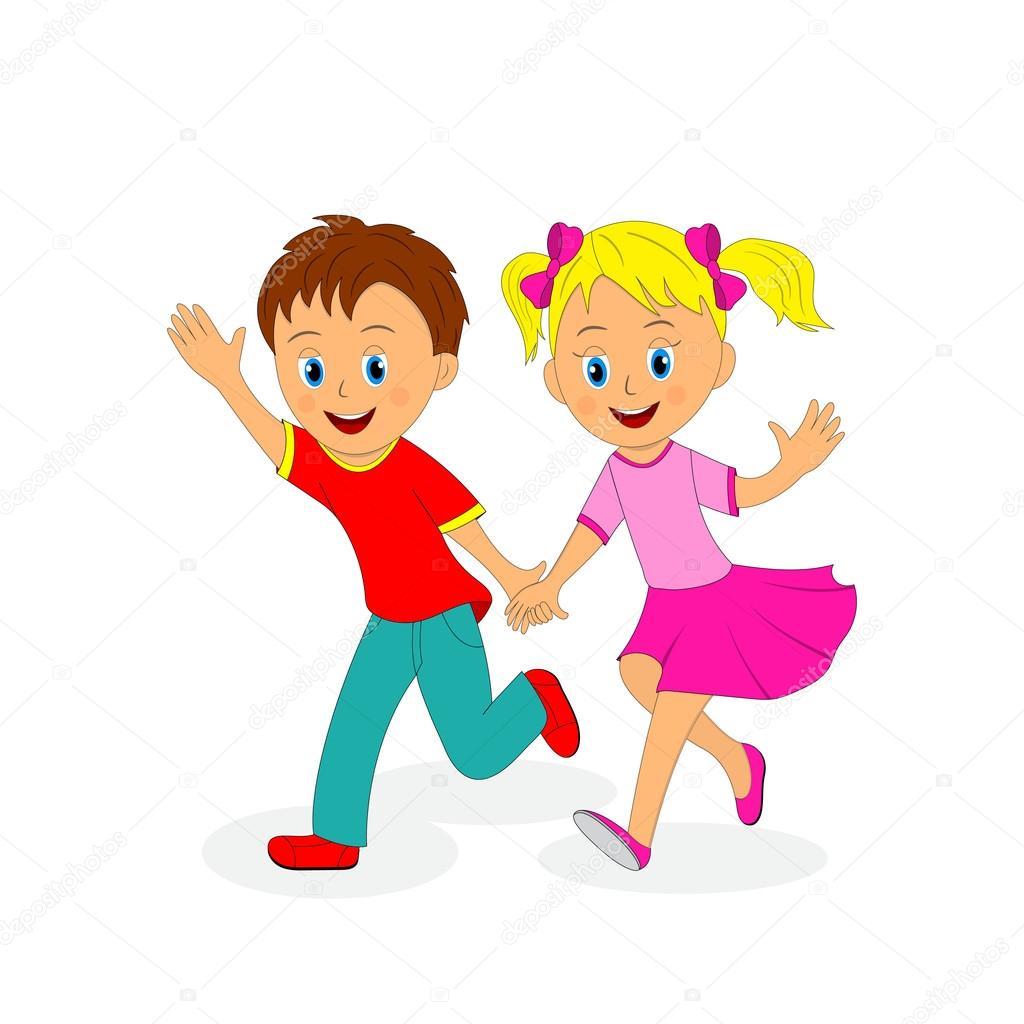 Картинка мальчик с девочкой держатся за руки