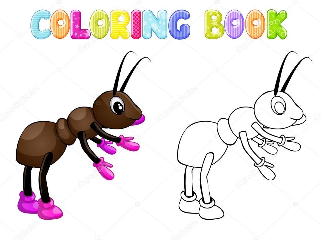 Hormiga para colorear en blanco — Foto de stock © karmina83 #104337030