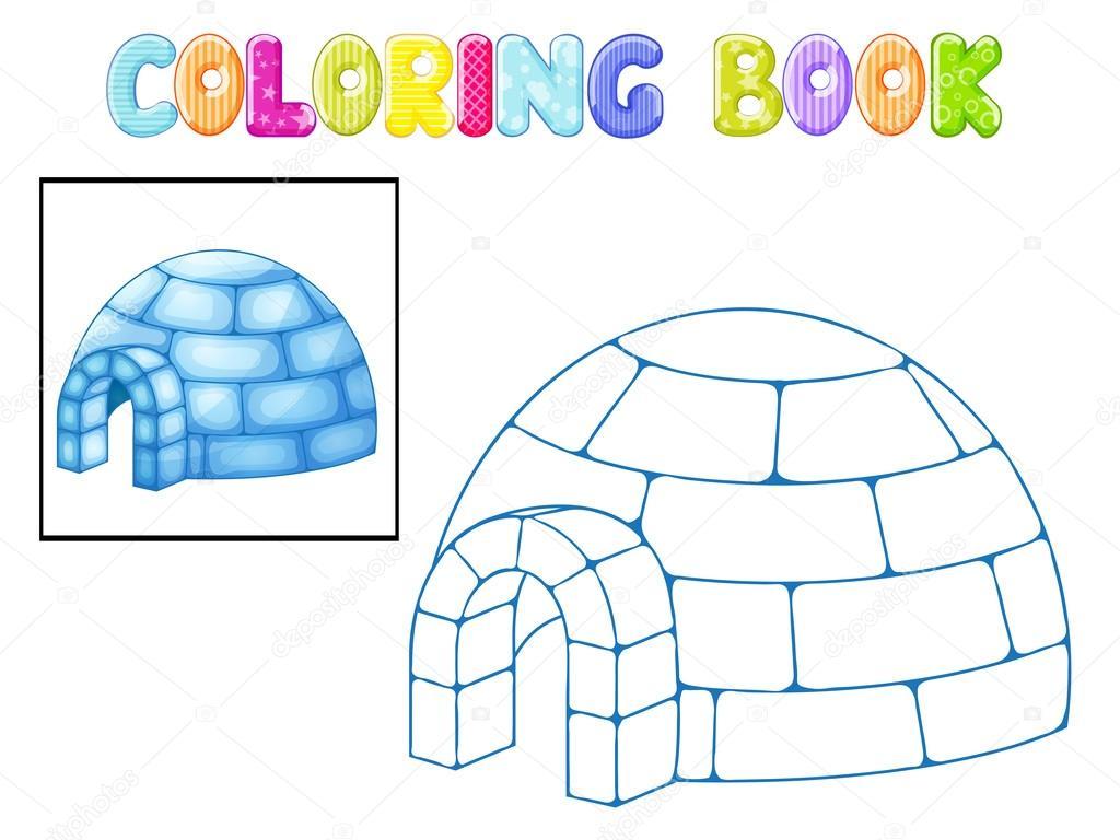 Imágenes Iglu Animados Para Colorear Iglú Para Colorear
