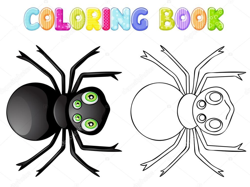 Boyama örümcek Stok Vektör Karmina83 70603383