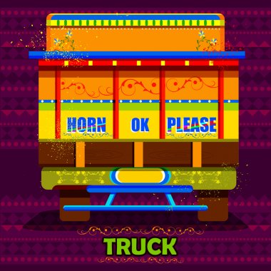 Indian Truck representing colorful India