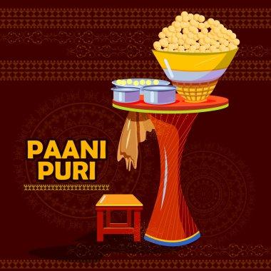 Indian Panipuri or Gol Gappa representing street food of India