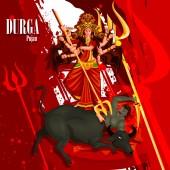 Happy festival svátek pozadí Durga Puja Indie