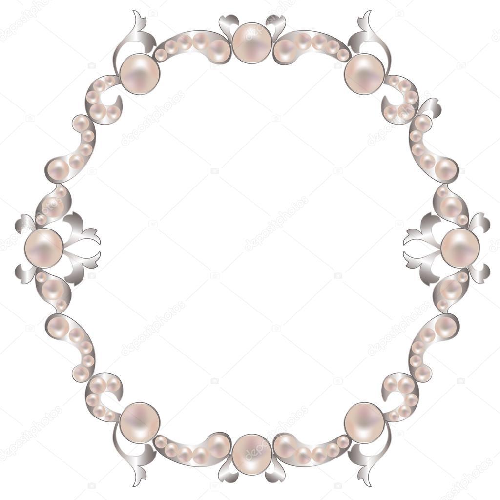 marco con perlas — Vector de stock © tatiana54 #103518212