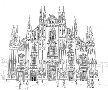 Sketch Milan Cathedral