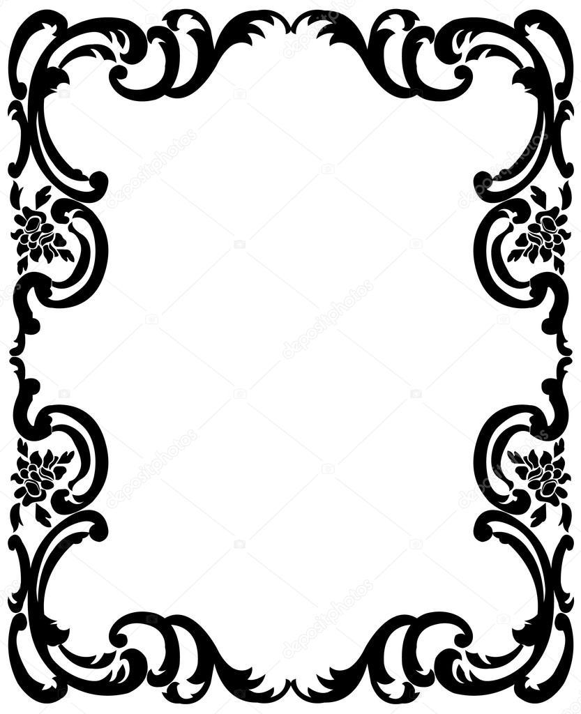 Marco Vintage negro — Archivo Imágenes Vectoriales © tatiana54 ...