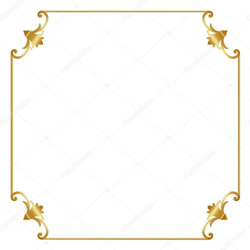 Marco dorado archivo im genes vectoriales tatiana54 - Marcos de fotos dorados ...