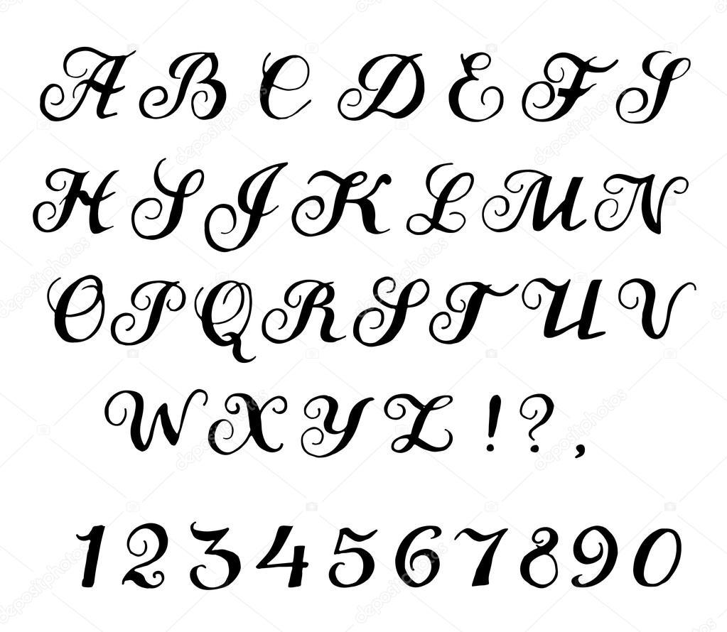 Lettertype kalligrafie — stockvector tatiana