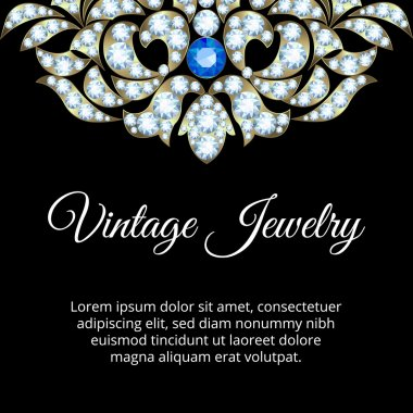 Jewelry vintage card