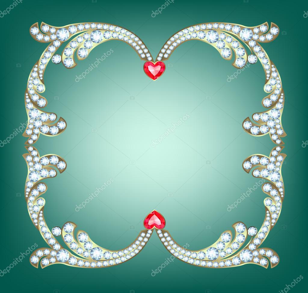 marco de diamante — Vector de stock © tatiana54 #84961326
