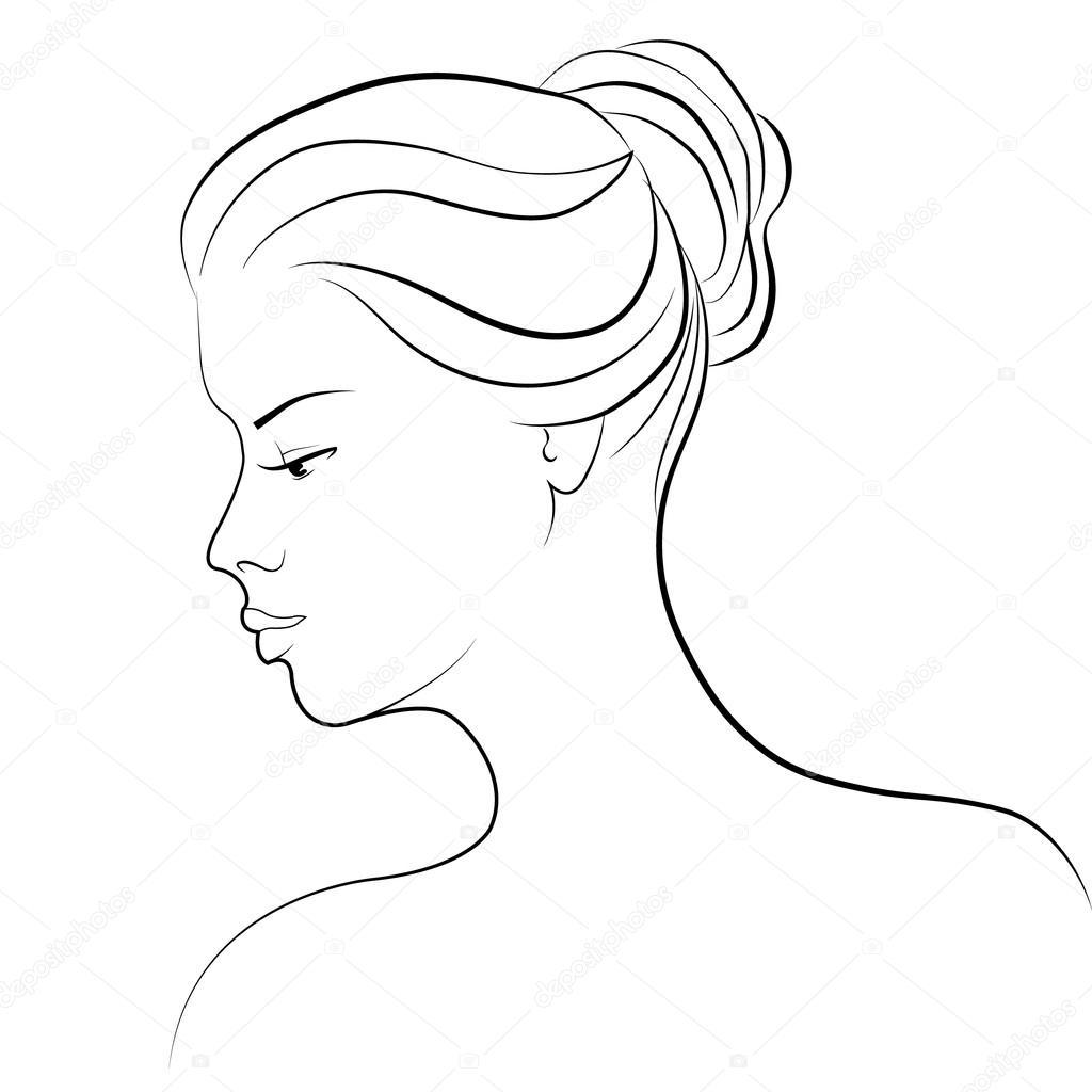 Dessin D Une Femme Image Vectorielle Tatiana54 C 99328430