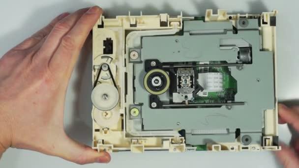 CD-ROM-optikai meghajtó 02 szétszerelnék