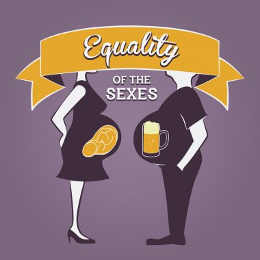 Gender Equality Illustration. Equality of the sexes