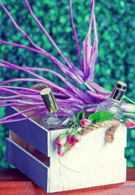 perfume bottles in a gift set