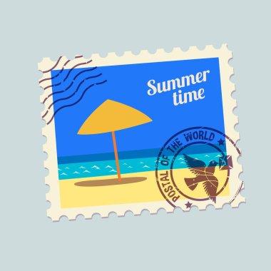 summertime holidays postmark