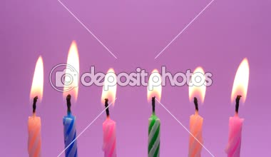 Burning Birthday Candles Stock Video