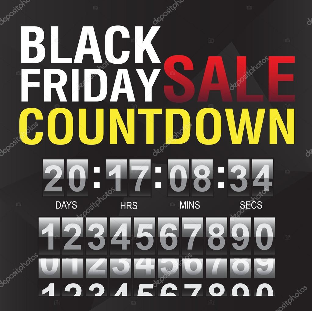 Black Friday countdown timer template — Stock Vector © nu1983 #90876054