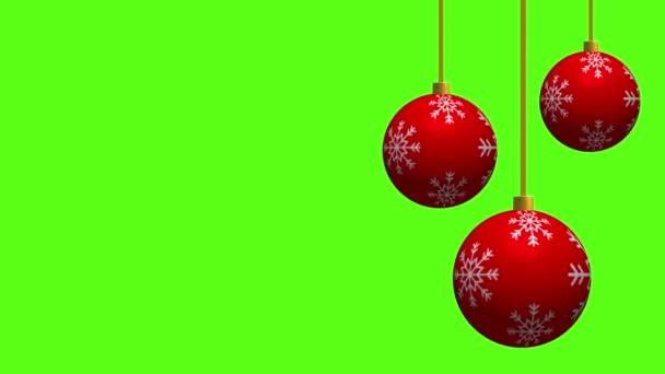červené vánoční koule visící