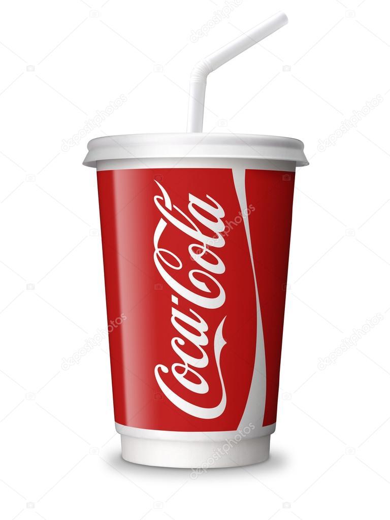 coca cola paper cup coca cola coke cup isolated with clip path