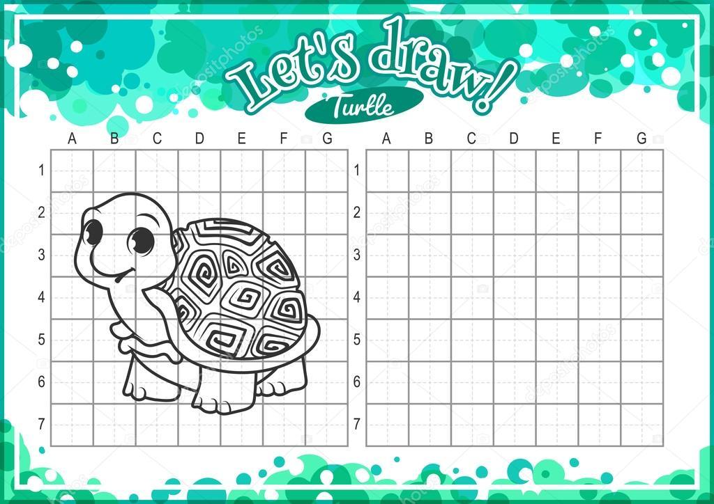 Cartoon Turtle Drawing How To Draw Cute Cartoon Turtle Stock Vector C Yavi 107415426