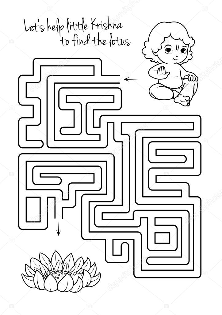 Stock Illustration Maze Game For Kids With on File Maze Type Standard