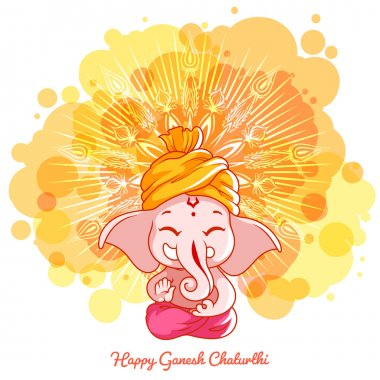 Greeting card for Ganesh birthday.