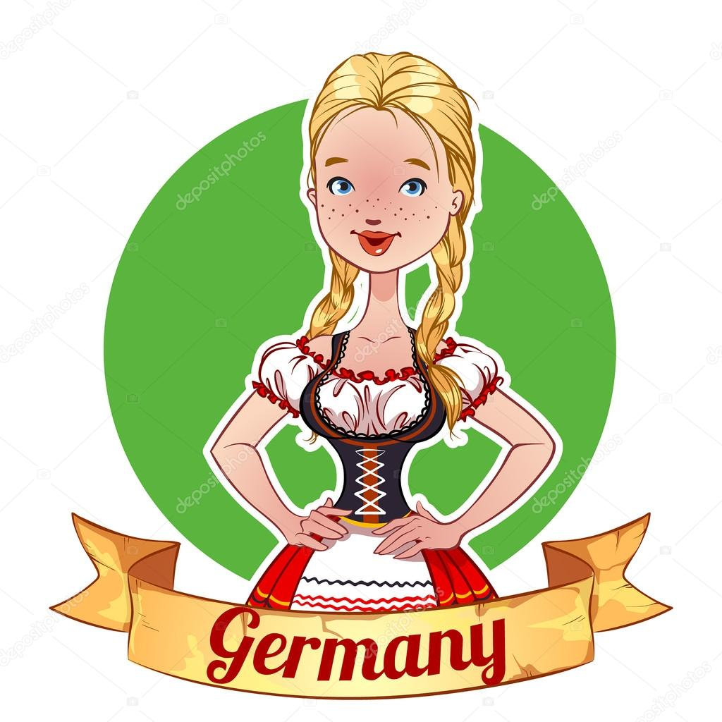 Girl in a German national costume