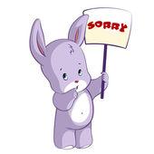 Roztomilý zajíc se znaménkem - Sorry