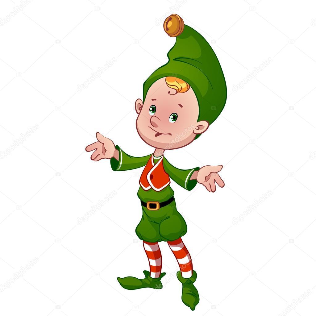 Cheerful a Christmas elf