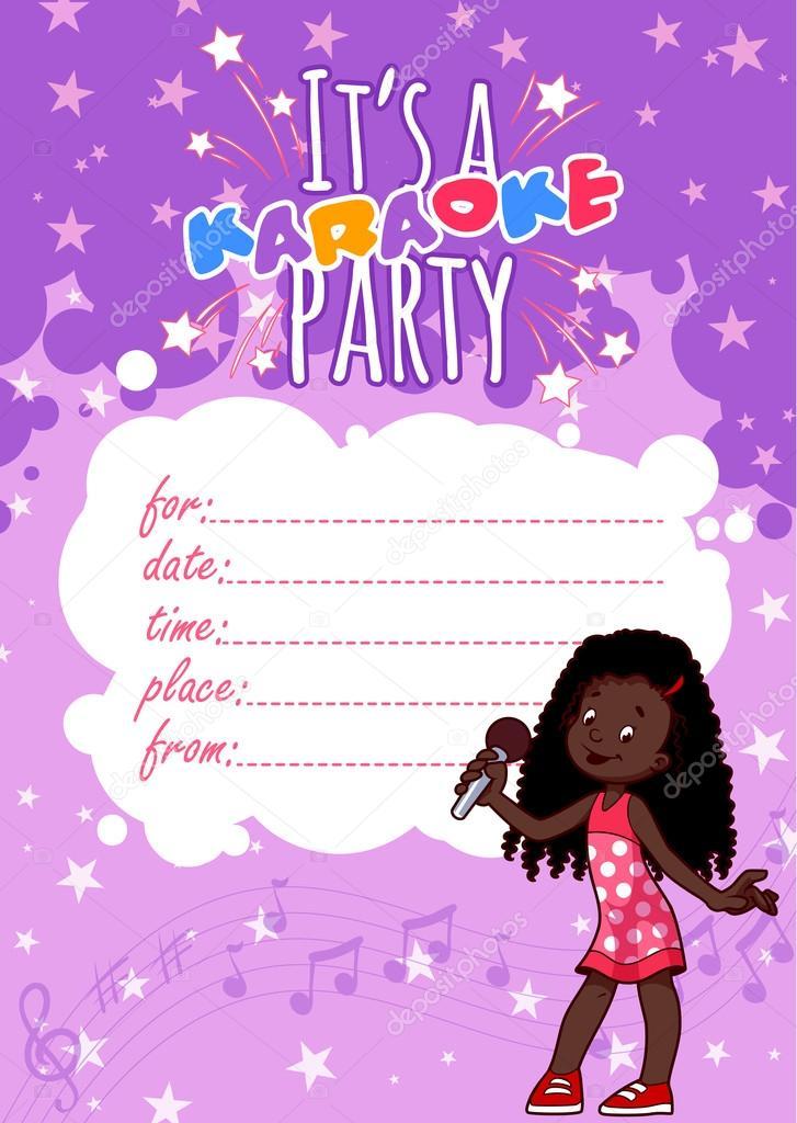 Fiesta Karaoke Infantil Invitación A Fiesta De Karaoke