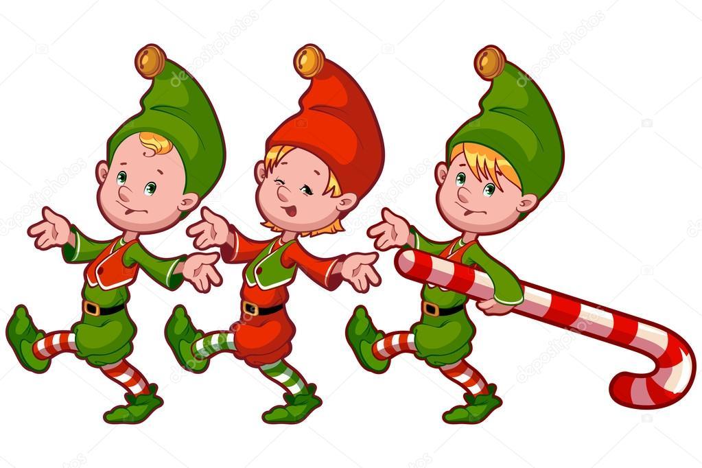 Elf wi tego miko aja z cukierk w grafika wektorowa yavi 85630778 - Clipart weihnachtswichtel ...