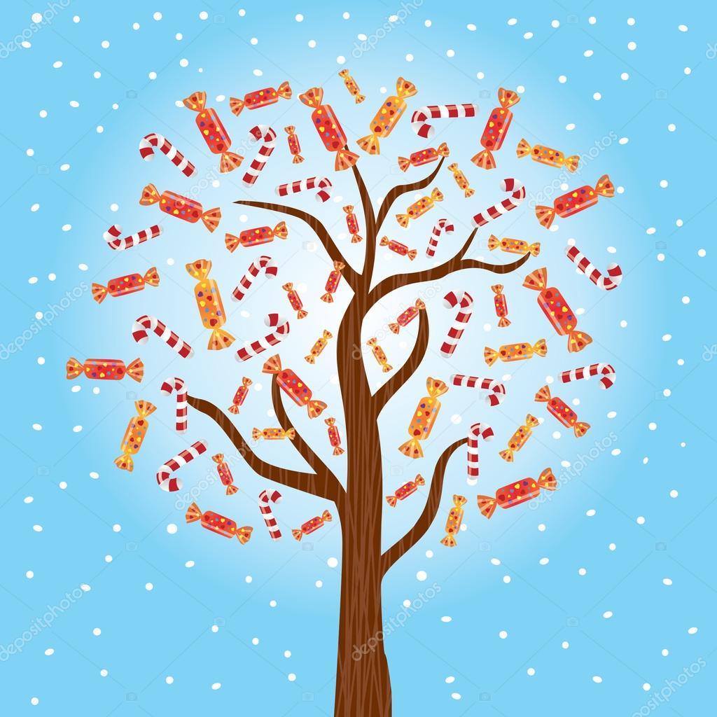 Рисунок сладкие деревья, маркой