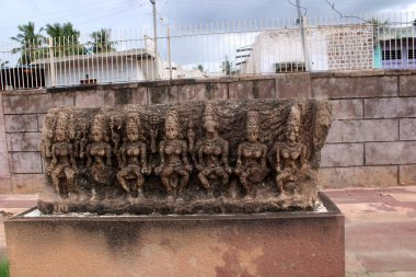 Aihole, Karnataka - August 1, 2020: Archaeological Monuments in Aihole.