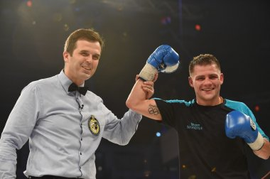 Ranking fight between Denis Berinchyk (Ukraine) and Belgian Tarik Madni in the Palace of sport in Kiev, Ukraine