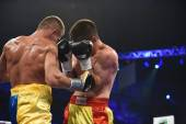 Ranking boxing fight in the Palaceof Sport in Kiev