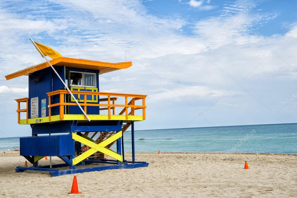 Lifeguard house in Miami