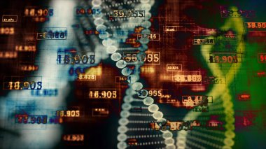 Abstract Digital DNA.