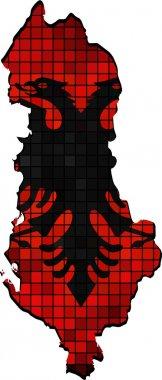 Albania map grunge mosaic