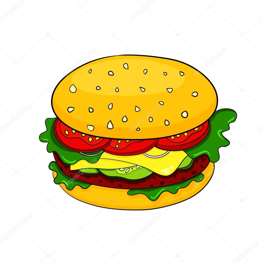 Image result for hamburger cartoon