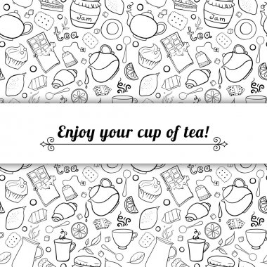Tea and sweets background